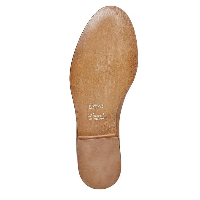 Chaussure en cuir sans lacet bata, Brun, 514-3267 - 26
