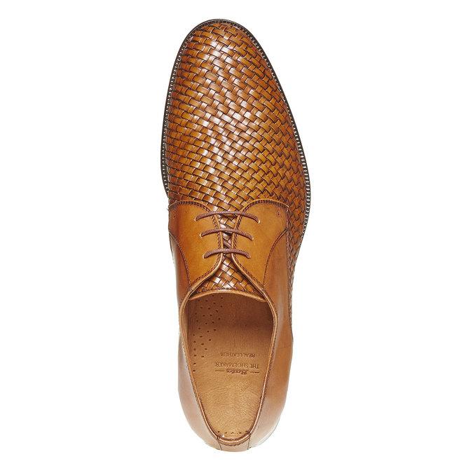 Chaussures en cuir pour homme avec détail entrelacé bata-the-shoemaker, Brun, 824-3295 - 19