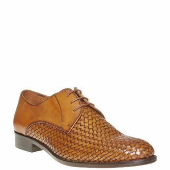 Chaussures en cuir pour homme avec détail entrelacé bata-the-shoemaker, Brun, 824-3295 - 13