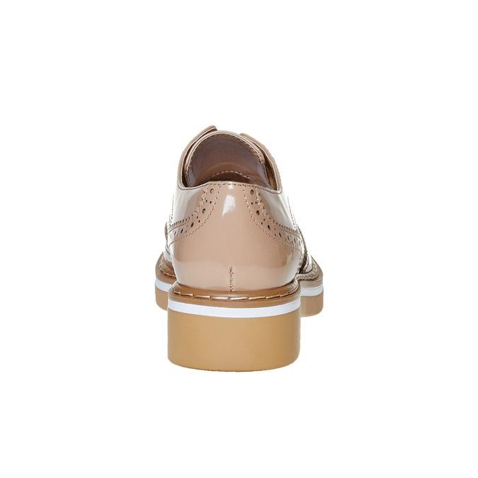 Chaussure vernie avec les motifs Brogue bata, Jaune, 521-8437 - 17