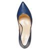 Escarpin pointu en cuir bleu bata, Violet, 724-9607 - 19