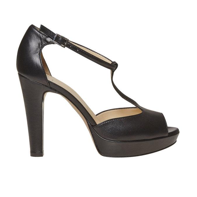 Sandale en cuir pour femme bata, Noir, 724-6708 - 15