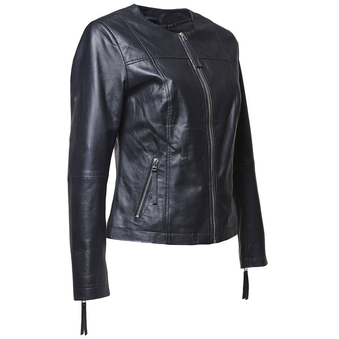 Blouson élégant en cuir bata, Noir, 974-6312 - 16