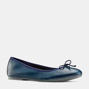 Ballerines en cuir bata, Bleu, 524-9144 - 13