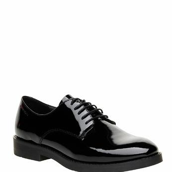 Chaussure lacée en cuir verni vagabond, Noir, 528-6006 - 13