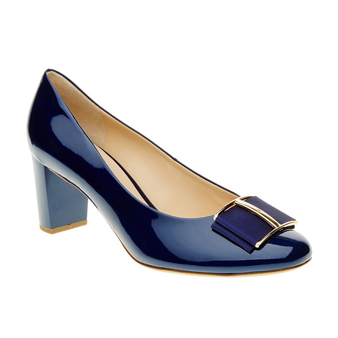 Escarpin verni femme hogl, Bleu, 728-9001 - 13