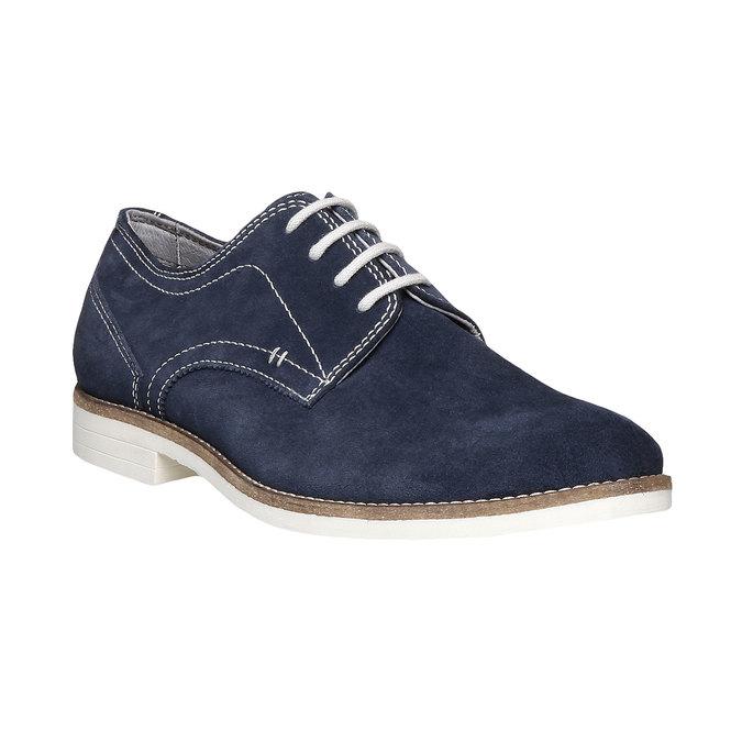 Chaussure lacée Derby en cuir bata, Violet, 823-9558 - 13
