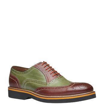 Chaussure lacée colorée en cuir shoemaker, Rouge, 824-5776 - 13