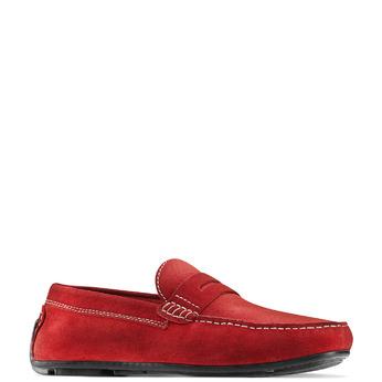Mocassin en cuir bata, Rouge, 853-5180 - 13