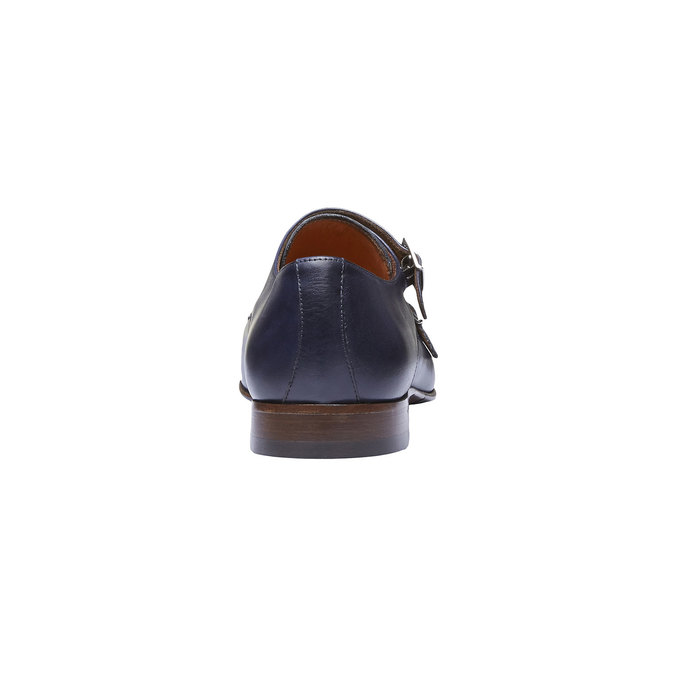 Monk Shoes en cuir pour homme shoemaker, Violet, 814-9144 - 17