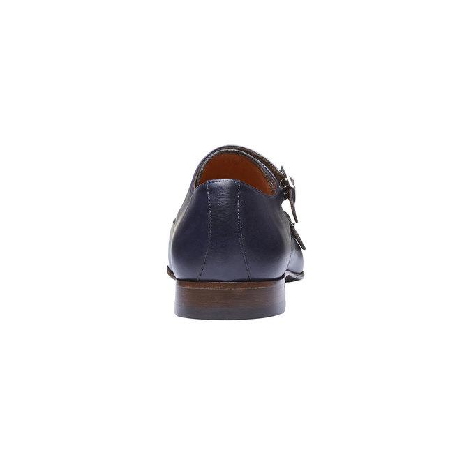 Monk Shoes en cuir pour homme shoemaker, Violet, 814-9144 - 17