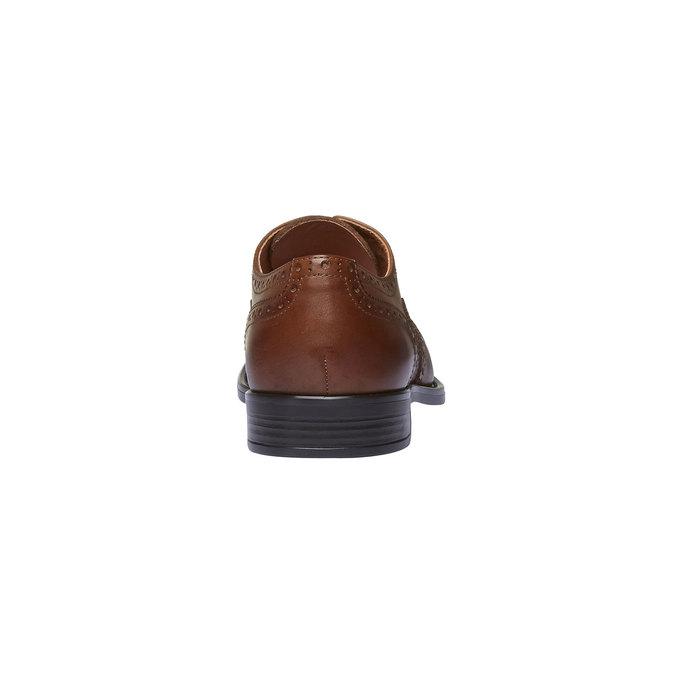 Chaussure lacée en cuir avec décoration Brogue bata, Brun, 824-3801 - 17