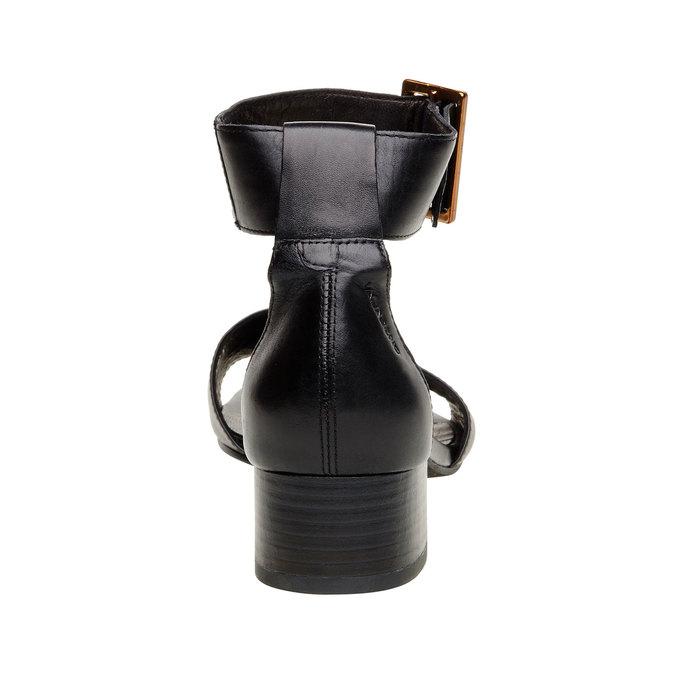 Sandale en cuir avec bride de cheville vagabond, Noir, 664-6013 - 17