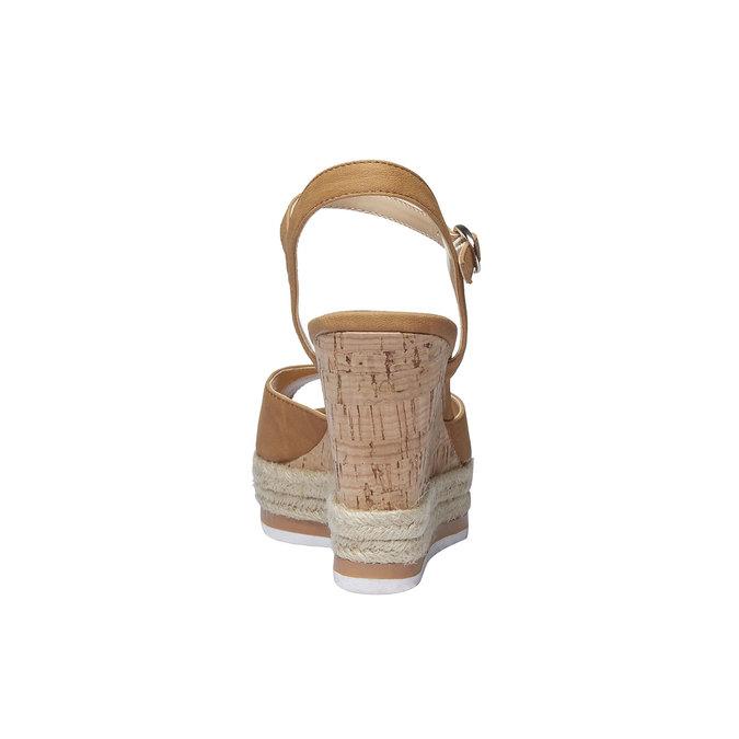 Chaussure à plateforme femme bata, Brun, 761-4520 - 17