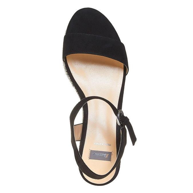 Sandale à plateforme bata, Noir, 769-6530 - 19