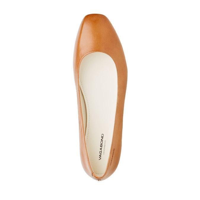 Ballerine en cuir pour femme vagabond, Brun, 514-3101 - 19