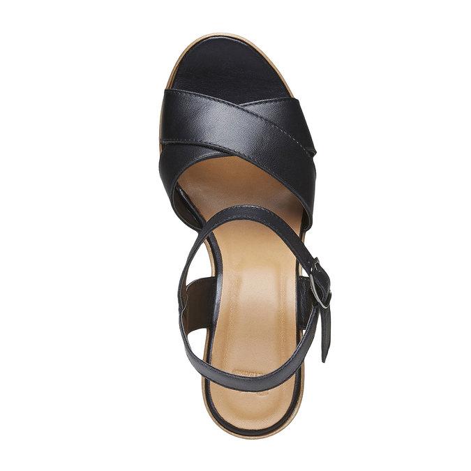 Sandale femme à talon massif bata, Noir, 764-6511 - 19