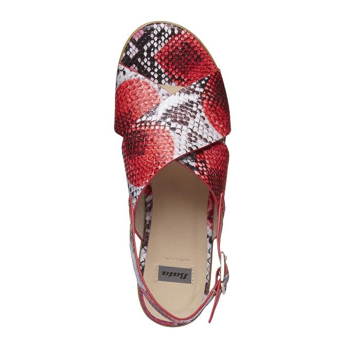Sandale femme à semelle épaisse bata, Rouge, 661-5144 - 19