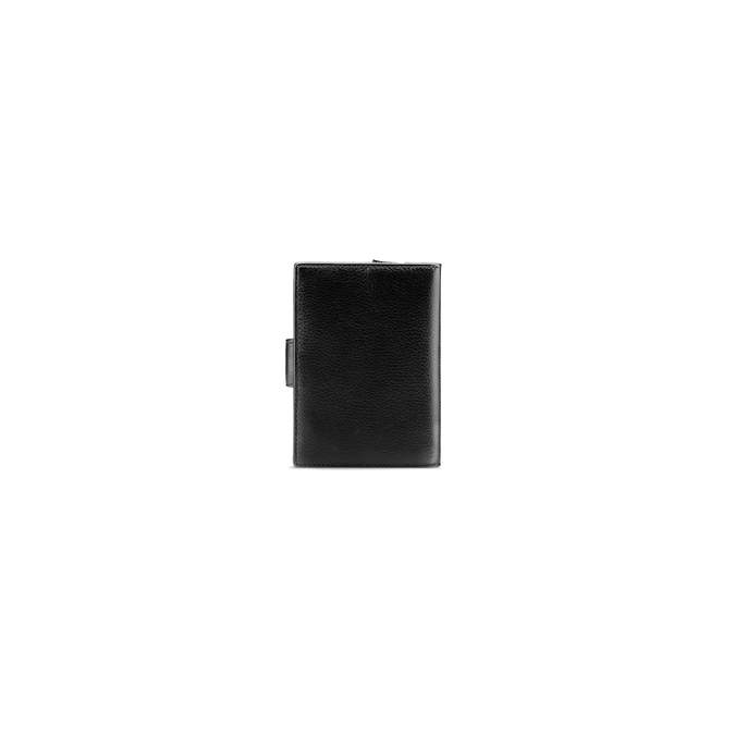 Porte-monnaie en cuir bata, Noir, 944-6117 - 26