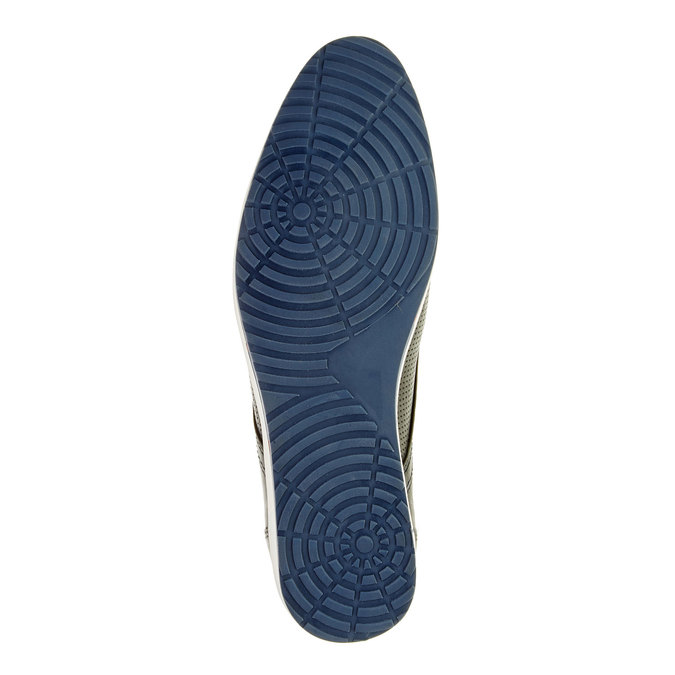Chaussure lacée décontractée en cuir bata, Noir, 824-9124 - 26
