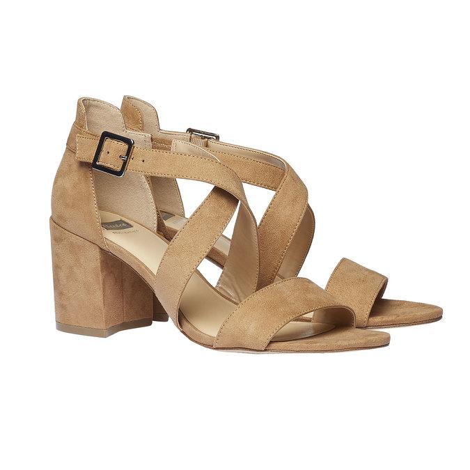 Sandale femme bata, Jaune, 769-8317 - 26
