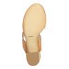 Sandale en cuir à talon large bata, Brun, 664-3205 - 26