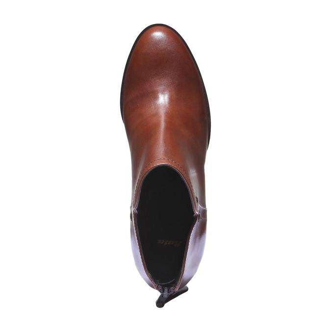 Bottines en cuir bata, Brun, 794-3576 - 19