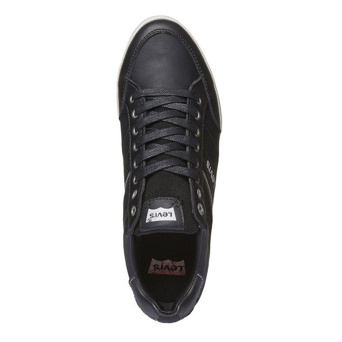 Tennis en cuir levis, Noir, 844-6261 - 19