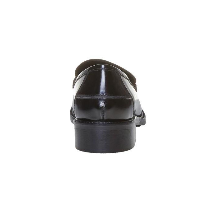 Mocassins en cuir femme bata, Noir, 514-6254 - 17