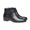 Bottines en cuir bata, Noir, 594-6167 - 26