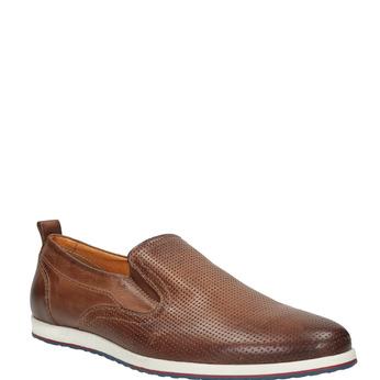 Chaussure Slip On en cuir pour homme bata, Brun, 814-4148 - 13