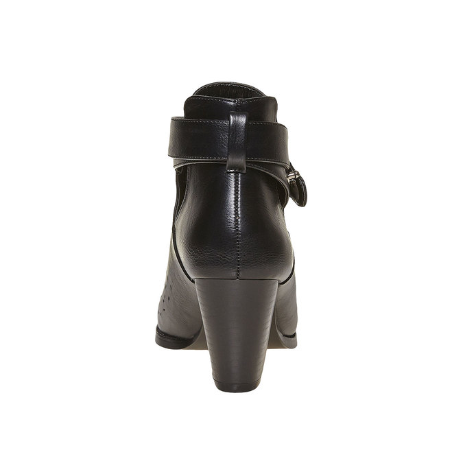 Bottine avec perforation bata, Noir, 791-6627 - 17