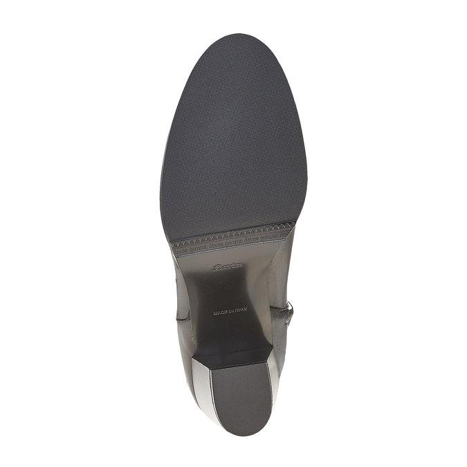 Bottine en cuir à talon bata, Noir, 794-6597 - 26