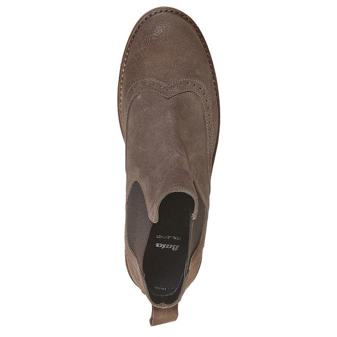 Chelsea Boots en cuir chamoisé bata, Gris, 593-2122 - 19