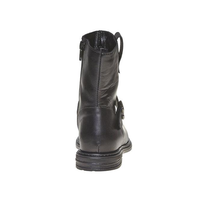 Botte en cuir pour enfant mini-b, Noir, 394-6308 - 17