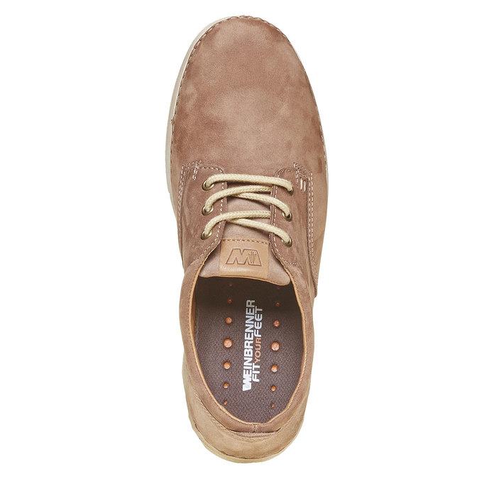 Chaussure lacée décontractée en cuir weinbrenner, Brun, 846-4657 - 19