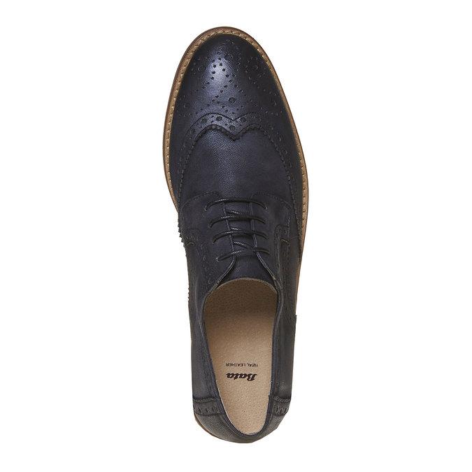 Chaussure en cuir pour homme dans le style Brogue bata, Noir, 824-6286 - 19