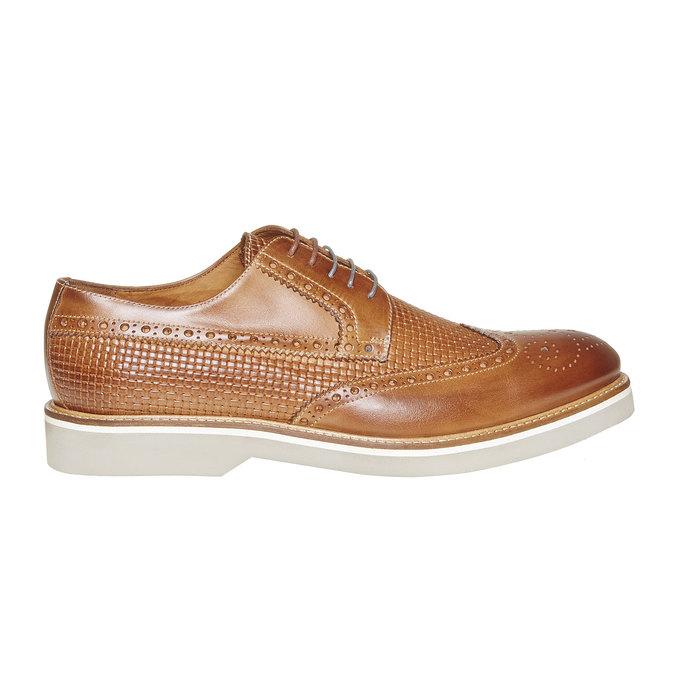 Chaussure lacée en cuir décoration Brogue bata-the-shoemaker, Brun, 824-3302 - 15