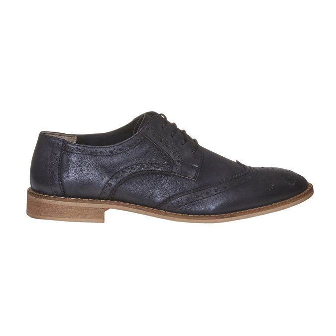 Chaussure en cuir pour homme dans le style Brogue bata, Noir, 824-6286 - 15
