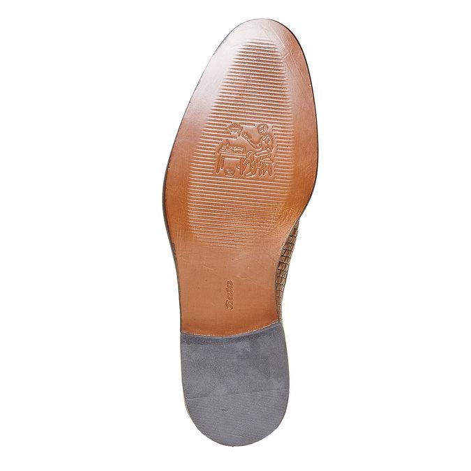 Chaussures en cuir pour homme avec détail entrelacé bata-the-shoemaker, Brun, 824-3295 - 26