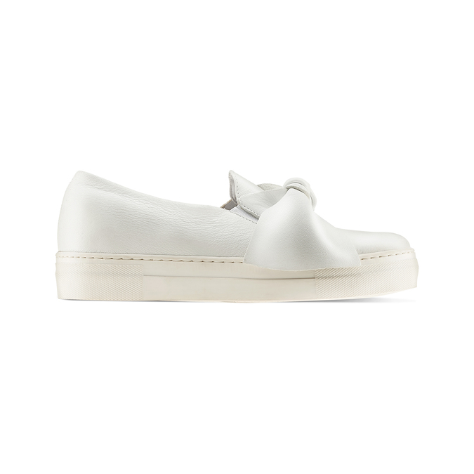 Slip-on en cuir à nœud north-star, Blanc, 514-1264 - 26