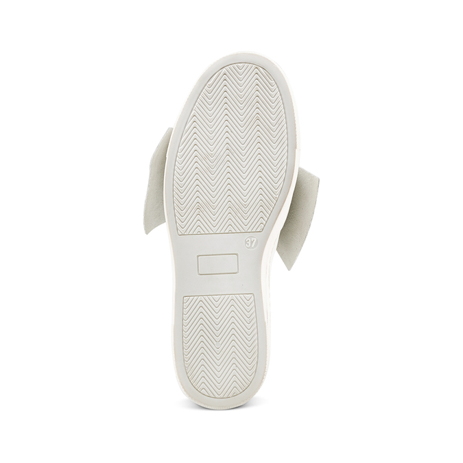 Slip-on en cuir à nœud north-star, Blanc, 514-1264 - 17