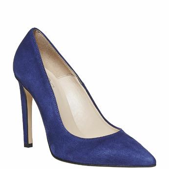 Escarpin pointu en cuir bleu insolia, Violet, 723-9867 - 13