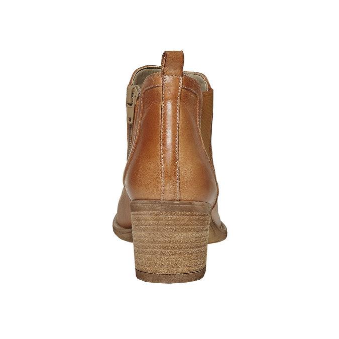 Bottine surpiquée en cuir bata, Brun, 694-3397 - 17