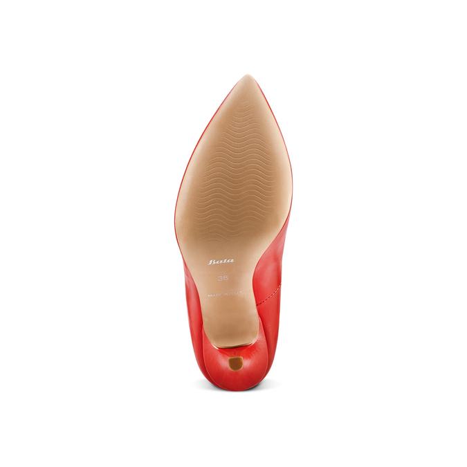 Escarpin rouge en cuir bata, Rouge, 724-5607 - 19