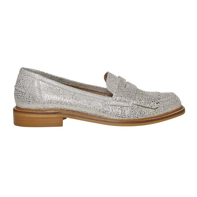 Loafer en cuir femme bata, Gris, 514-2272 - 15