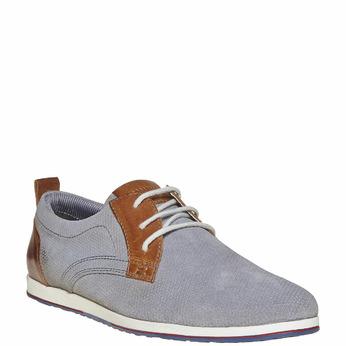 Chaussure décontractée en cuir bata, Gris, 823-2234 - 13