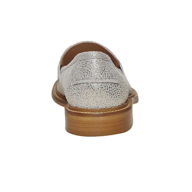 Loafer en cuir femme bata, Gris, 514-2272 - 17