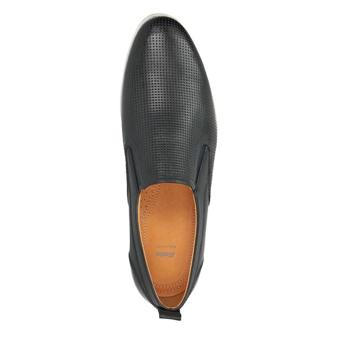 Chaussure Slip On en cuir pour homme bata, Violet, 814-9148 - 19