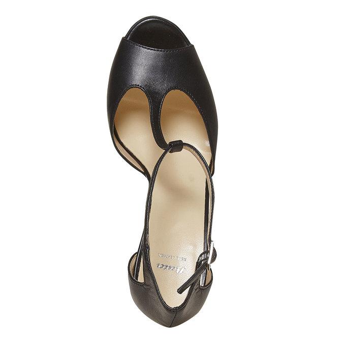 Sandale en cuir pour femme bata, Noir, 724-6708 - 19